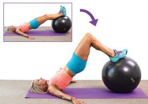 Exercises on leg fitball