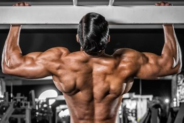 Pull-ups with a wide grip