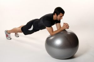 Rolling plank with fitball