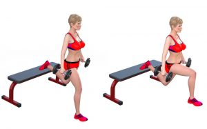 Split squats with weights