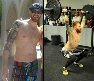 Patrick Moen before and after crossfit